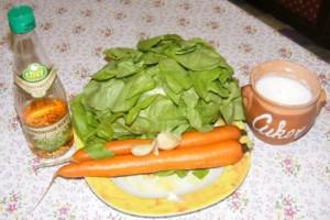 Fejes saláta répával - Hozzávalók