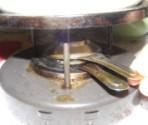 Fondüzés - A végén a koppintóval oltsd el a lángot!