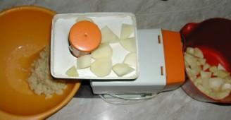 Lepcsánka - Daráld le a krumplit húsdarálón! - felülnézet