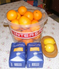 Narancslekvár - Hozzávalók: naracs, cukor.