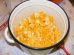 Narancslekvár - Készen van a darabolás.
