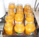 Narancslekvár - Megteltek lekvárral az üvegek.