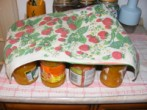 Narancslekvár - A dunsztoláshoz: fedd le egy réteg konyharuhával az üvegeket!