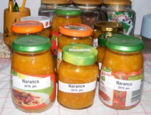 Narancslekvár - Kész, üvegekben.