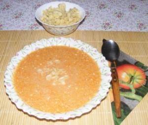 Paradicsomleves - Kész, tányérban.