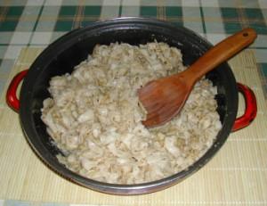 Diós tészta - Kész, serpenyőben.