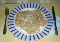 Diós tészta - Kész, tányérban.