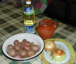 Dinsztelt krumpli - Hozzávalók
