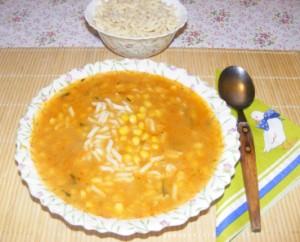 Kukoricaleves - Kész, tányérban.