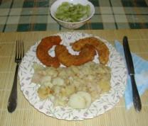 Dinsztelt krumpli - Kész, tányérban.