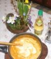 Zöldbabfőzelék - Jól keverd el a tejfölt a főzelékkel!