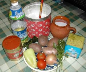 Nyári krumplileves - Hozzávalók