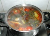 Nyári krumplileves - Megfőtt a leves.