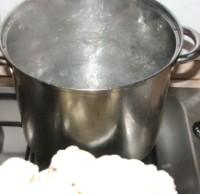 Rakott karfiol - forró vízbe odatenni