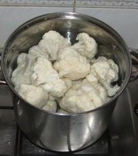 Rakott karfiol - forró vízben