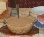 Tartalom - Bableves - a kész leves a leveses tálban