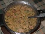 Tartalom - Frankfurti leves - a kész leves a lábosban
