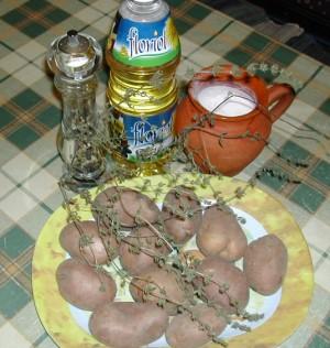 Sütőben sült krumpli - Hozzávalók