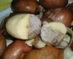 Sütőben sült krumpli - Kettévágás után jól hozzáférhető a hibás rész!
