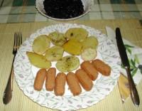 Sütőben sült krumpli - Kész, tányérban.