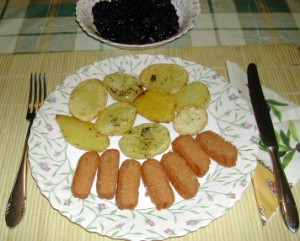 Biokolbász - Kész, tányéron.