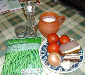 Andalúziai zöldbab - Hozzávalók