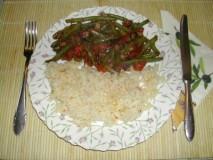 Andalúziai zöldbab - Kész, tányérban-2.