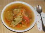 Tartalom - Töltelékes zöldségleves - tányérban