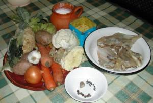 Húsleves - Hozzávalók (tészta nélkül)