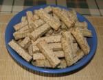 Tartalom - Szezámos rudacskák- tálban