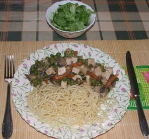 Zöldséges tofu - kész