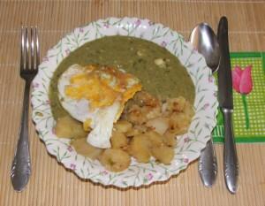 Sóska - kész, tányérban