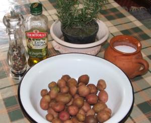 Rozmaringos újkrumpli - Hozzávalók