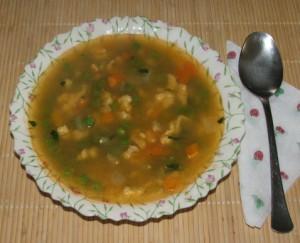 Borsóleves - Kész, tányérban.