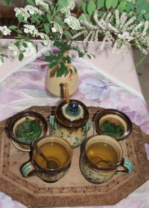 Citromfű-tea - Kész, tálalva