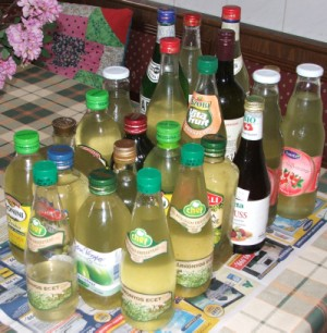 Bodzaszörp - Kész, üvegekben.