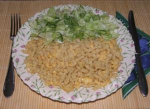 Tojásos nokedli - Kész, tányérban