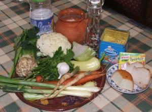 Tavaszi zöldségleves - Hozzávalók