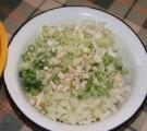 Tavaszi zöldségleves - A feldarabolt zöldségek főzésre készen.