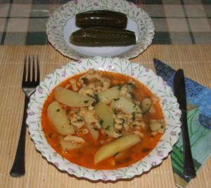 Paprikás krumpli - Kész, tányérban.